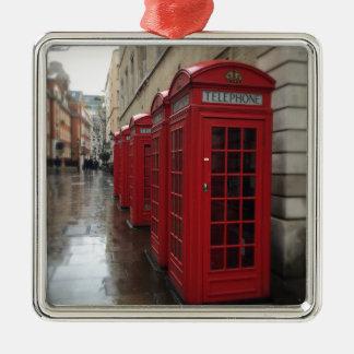 Phone boxes Silver-Colored square decoration