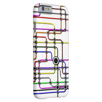 Phone case colorful subway lines and stations