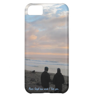 Phone Case: Couple Looking at Sunset on the Beach iPhone 5C Case