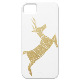 Phone Case Cover Faux Gold Glitter  Reindeer