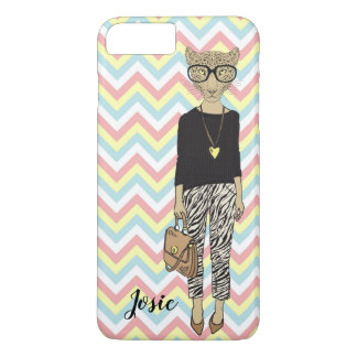 phone case cover hipster cat add name
