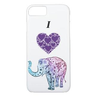 Phone case/ elephant/ I love/ hearts iPhone 8/7 Case