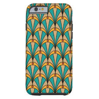 Phone case in Art Deco style and turquoise colours