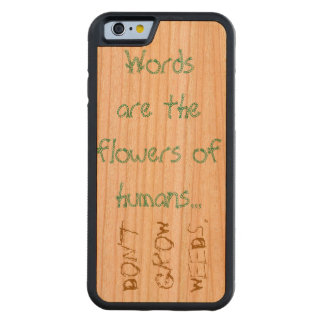 Phone case iPhone case  Speak kindly Cherry iPhone 6 Bumper