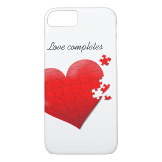 phone case love jigsaw puzzle heart design