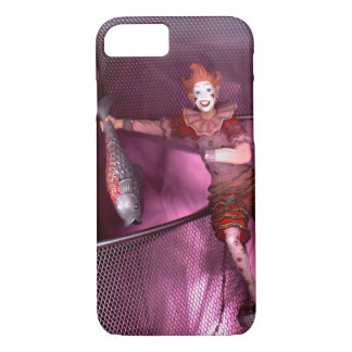 Phone case photo of statue of clown in cage