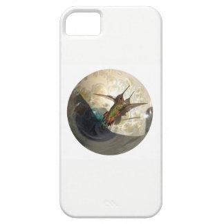 Phone case photograph close up of a hummingbird