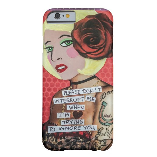 Phone case-please don't interrupt me barely there iPhone
