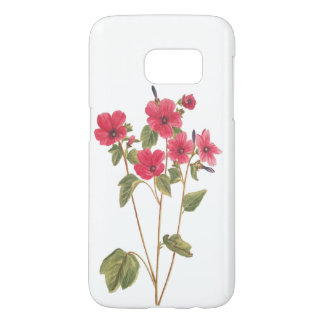 Phone case with a flower vintage illustration