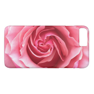 Phone case with close up photo of pink rose