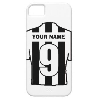 Phone Case with Club Colours! Black & White Shirt