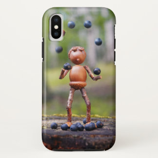 Phone case with funny juggling acron elf