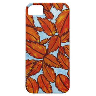 Phone case with original art of leaves