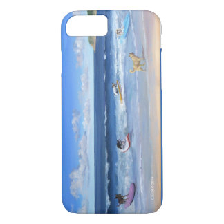 phone case with surfing dogs