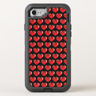 Phone case with tiny hearts pattern