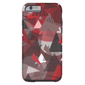 Phone Case with Triangles Garnet design