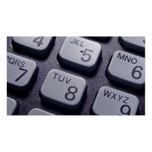 Phone Dials Business Card