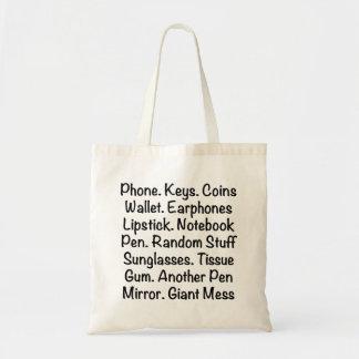 Phone. Keys. Coins. Bag