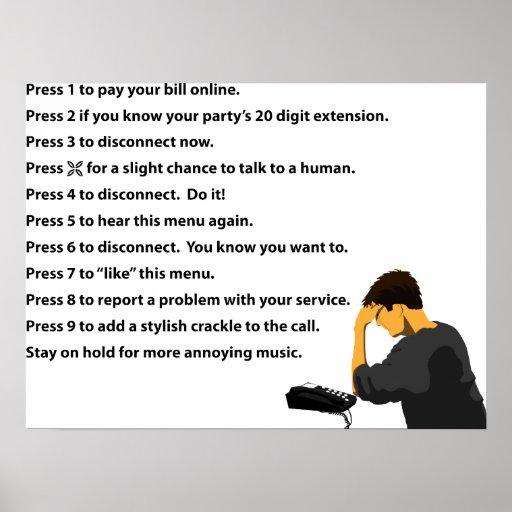 Phone Menu Print