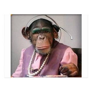 phone monkey post card