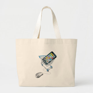 Phone mouse trolley concept tote bag