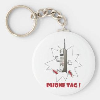 phone tag basic round button key ring
