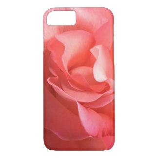 Phonecase a peach/pink rose close-up soft petals iPhone 8/7 case