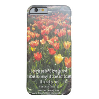 Phonecase - Tulips photo with Bible Verse Barely There iPhone 6 Case