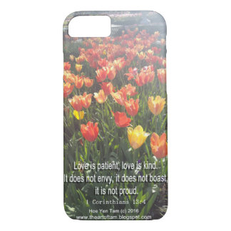 Phonecase - Tulips photo with Bible Verse iPhone 7 Case