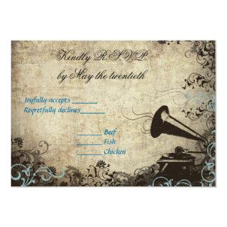 Phonograph Vintage Wedding RSVP Invitation