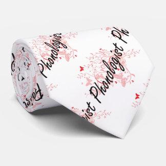 Phonologist Artistic Job Design with Butterflies Tie