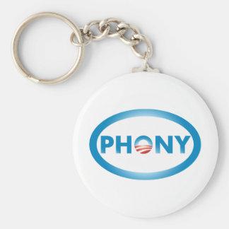 PHONY BASIC ROUND BUTTON KEY RING