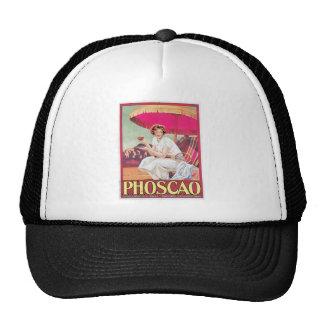 Phoscao Vintage Chocolate Drink Ad Art Trucker Hats