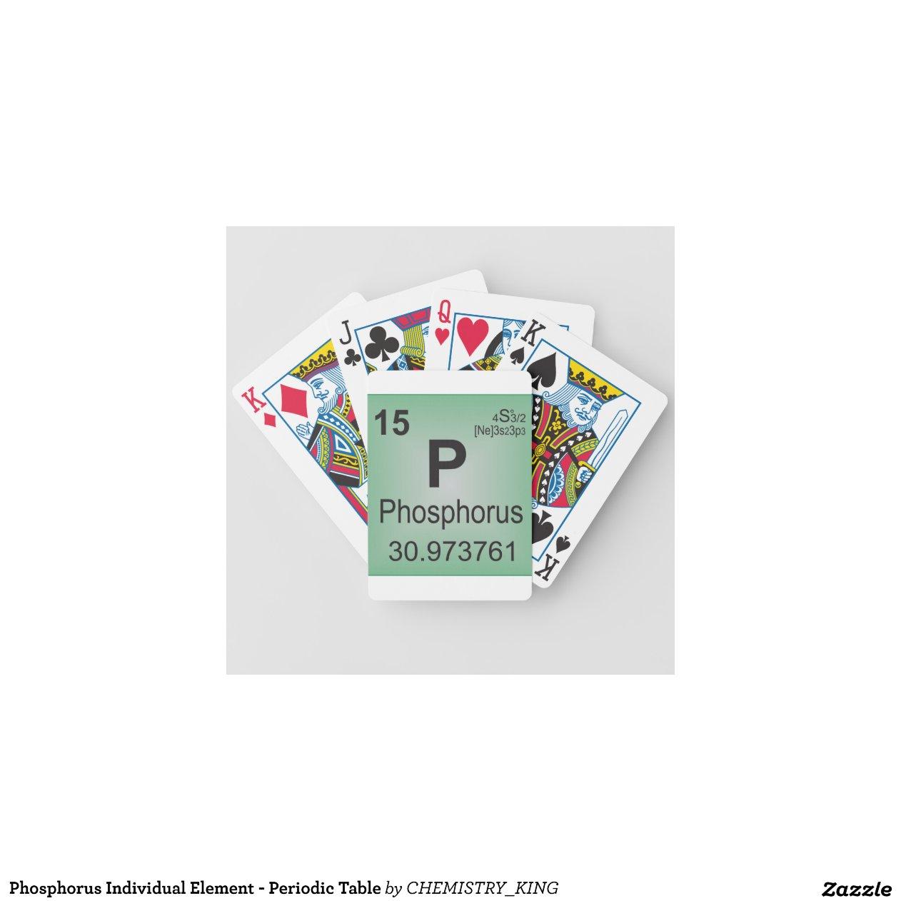 Phosphorus Individual Element Periodic Table Playing