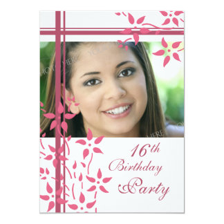 Photo 16th Birthday Party Invitations