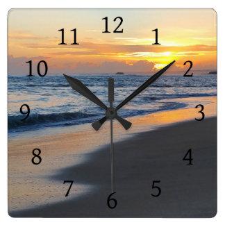 Photo 19 ocean sunset wall clock