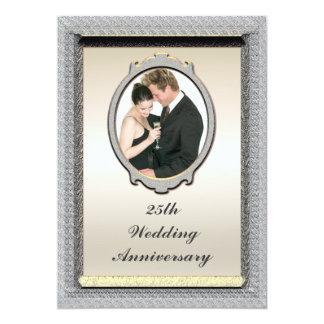 Photo 25th Wedding Anniversary Party Invitation