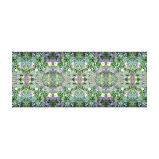 Photo 772 Flower Fractals A & B Mirror Panel Canvas Print