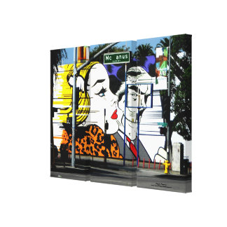 Photo 8 Graffiti in Color Stretched Canvas Print
