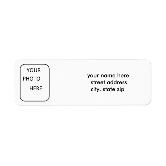 Photo Address Label