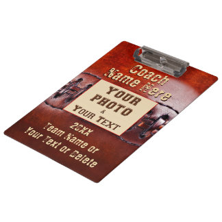 Photo and Personalized Football Coach Clipboard