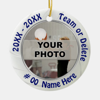 Photo and Personalized Volleyball Ornaments