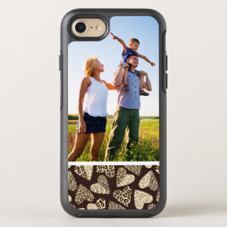 Photo Animal skin with hearts OtterBox Symmetry iPhone 8/7 Case