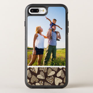 Photo Animal skin with hearts OtterBox Symmetry iPhone 8 Plus/7 Plus Case