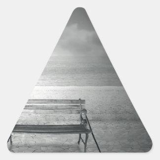 Photo art black white art deco vintage memory triangle sticker