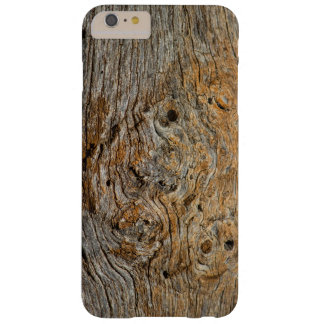 Photo Art Knotty Old Wood Gnarly Cabin Board Barely There iPhone 6 Plus Case