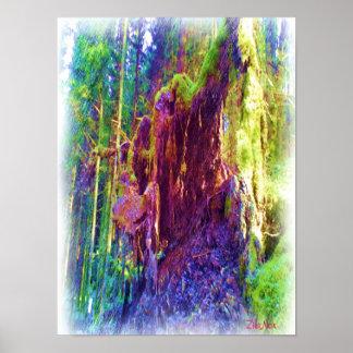 Photo art of fallen tree poster