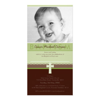 PHOTO BAPTISM INVITATIONS :: pure 6 Picture Card