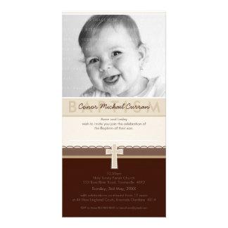 PHOTO BAPTISM INVITATIONS :: pure 7 Photo Card Template