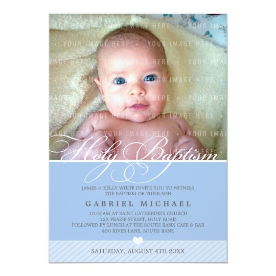 PHOTO BAPTISM INVITE :: lovely type 5